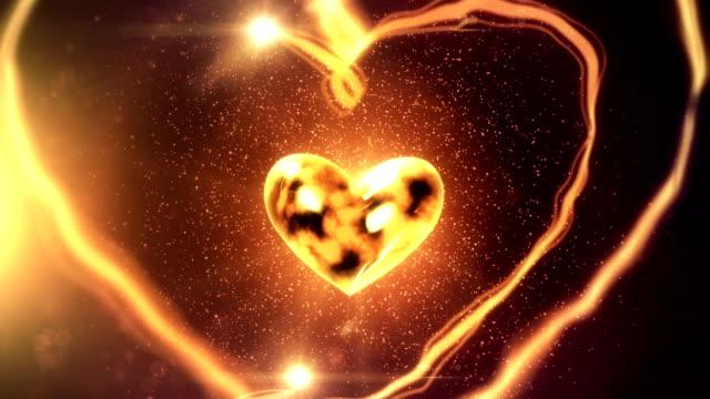 Herz mit Flying Bänder (gelb/Golden)-Loop