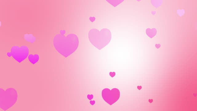 Hearts Background Animation - looping