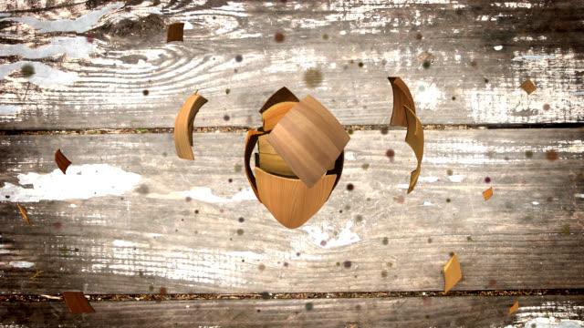 Herzförmige Holz der verschiedenen Arten und Farben
