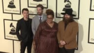 Heath Fogg Steve Johnson Brittany Howard and Zac Cockrell of Alabama Shakes at 58th Annual GRAMMY Awards® Arrivals at Staples Center on February 15...