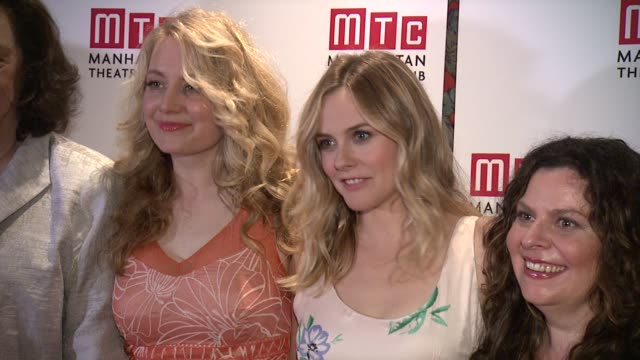 Heather Lind Lynne Meadow Jennifer Mudge and Alicia Silverstone at 'Of Good Stock' Opening Night at Brasserie 8 1/2 on June 30 2015 in New York City