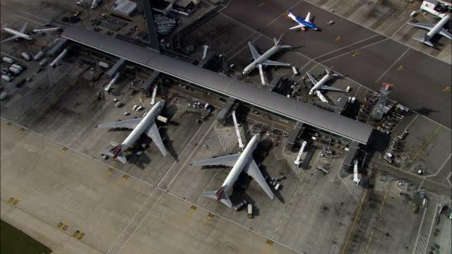 Heathrow  - Aerial View - England, Greater London, Hillingdon, United Kingdom