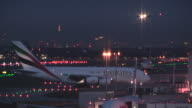 Heathrow airport London at night