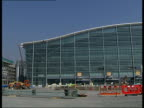 Preview of Terminal 5 EXT General views of Terminal 5 building with construction workers and equipment in foreground