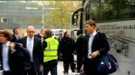 Heathrow EXT England cricket team including captain Andrew Strauss arriving at airport