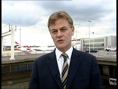 BA Heathrow flights grounded by wildcat strike 2 WAY EXHEATHROW AIRPORT London EXT Mick Temple interview SOT if you are travelling with another...