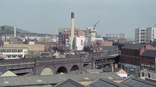 1973 MONTAGE Heating station sitting at the city's center / Nottingham, England, United Kingdom