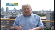 Heatwave and pollution producing deadly chemicals Reporter to camera Alex Hill interview SOT discusses July 2006 heatwave