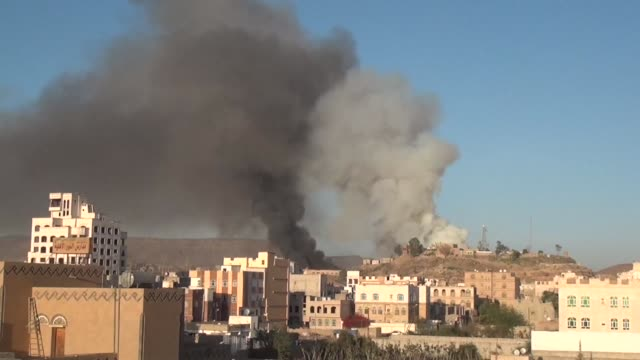 Heavy explosions rocked areas in and around the Yemeni capital as Saudi led coalition warplanes bombarded Shiite rebel positions witnesses said