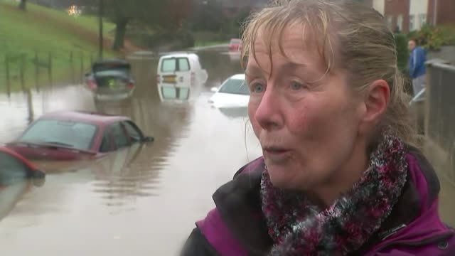 Heavy rain across UK causes flooding and travel disruption Sue Anderson interview SOT