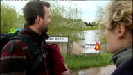 Heavy rain in England and Wales continues Gloucestershire Gloucestershire Fire and Rescue Service firefighters practising river rescue drill in...