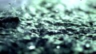 Starker Regen (Super Zeitlupe)