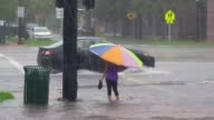 Heavy rains flood Miami video of as people wading through deep puddles