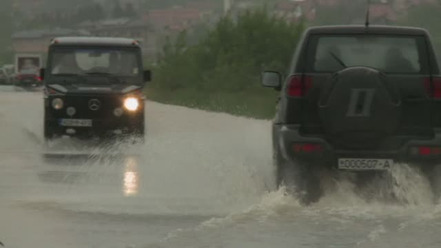 Heavy rains provoked massive floods in Bosnia on Wednesday especially in the capital Sarajevo where many homes where flooded or isolated by water