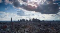 T/L WS HA Heavy summer clouds over Shinjuku, Tokyo, Japan
