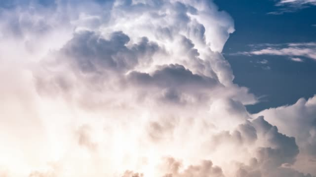 Heavy thunderstorm with lightnings