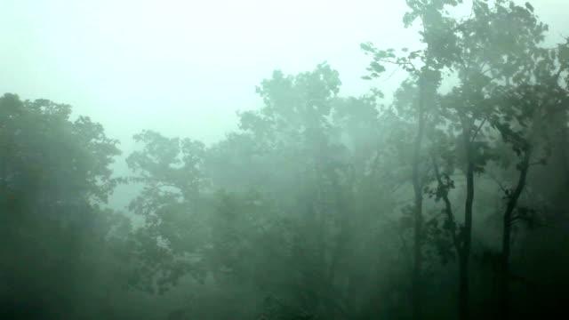 Starkem wind und Regen