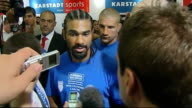 Build up to Haye v Klitschko title fight LIB GERMANY Hamburg PHOTOGRAPHY**** David Haye arriving for weighin Wladimir Klitschko on the scales at...