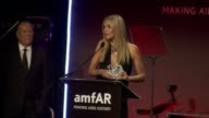 SPEECH Heidi Klum accepts her award and thanks amFAR for their work at amfAR New York Gala To Kick Off Fall 2013 Fashion Week at Cipriani Wall Street...