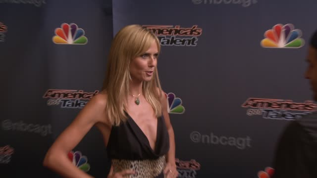 Heidi Klum at 'America's Got Talent' Red Carpet at the Dolby Theater on April 22 2014 in Hollywood California
