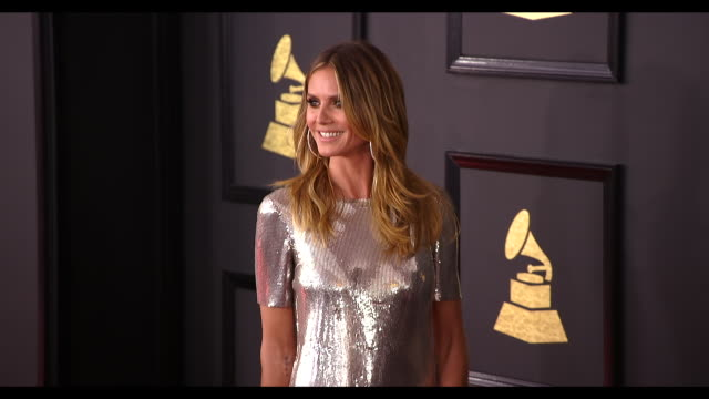 Heidi Klum at the 59th Annual Grammy Awards Arrivals at Staples Center on February 12 2017 in Los Angeles California 4K