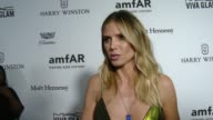 INTERVIEW Heidi Klum on the event at amfAR's Inspiration Gala Los Angeles 2016 in Los Angeles CA