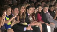 Heidi Klum Zac Posen and Nina Garcia in the Audience of Project Runway Runway Spring 2014 MercedesBenz Fashion Week Heidi Klum Zac Posen and Nina...