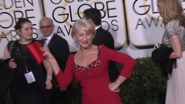 Helen Mirren at the 72nd Annual Golden Globe Awards Arrivals at The Beverly Hilton Hotel on January 11 2015 in Beverly Hills California