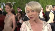 INTERVIEW Helen Mirren on enjoying the Tony's and loving Hugh Jackman at 2015 Tony Awards Arrivals at Radio City Music Hall on June 07 2015 in New...