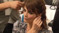 Helena Christensen at the New York Fashion Week Backstage VIP Experiences with American Express at New York NY