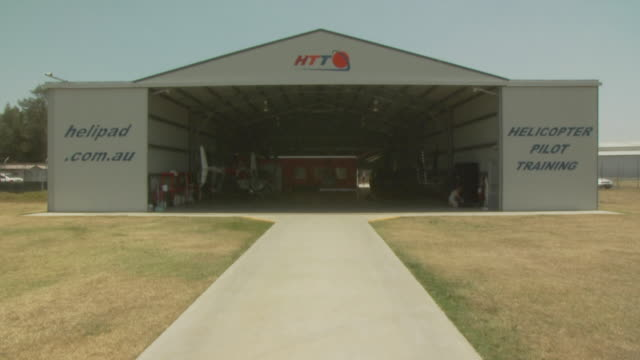 Helicopter hangar, Australia