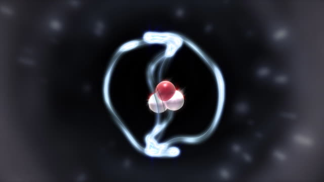 Helium-atom-animation schrodinger Modell
