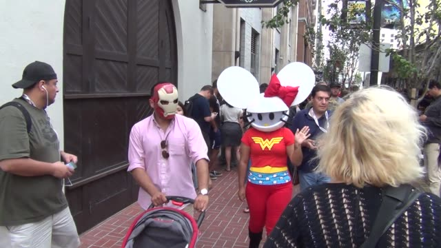 Hello Kitty Deadmau5 costume on streets of San Diego Comic Co at Celebrity Sightings ComicCon International 2013 Celebrity Sightings ComicCon...