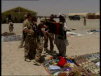 British Territorial Army soldiers / Camp Bastion general views AFGHANISTAN Helmand Province Camp Bastion EXT Various of British TA Somme Company...