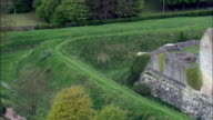 Helmsley Castle  - Aerial View - England,  North Yorkshire,  Ryedale District,  United Kingdom