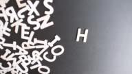 Help Spelled In wooden alphabet
