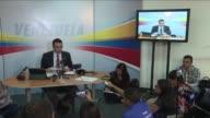 Henrique Capriles lider opositor venezolano y gobernador del estado de Miranda nego el miercoles estar relacionado con el pago de sobornos de la...