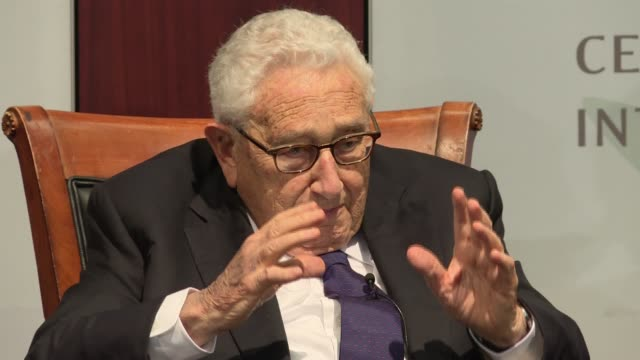 Henry Kissinger discusses at length issues of oversight especially Congressional oversight at an event to mark the 70th Anniversary of the National...