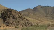 WS Herdsman driving goats down hill, Taddert, Morocco