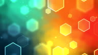 Hexagon Colorful Background Loopable