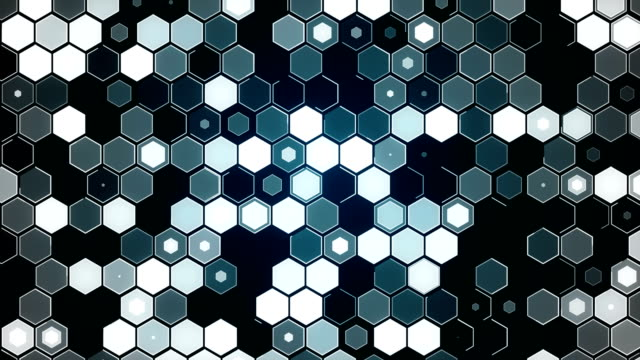 Hexagon Particle Abstract Background