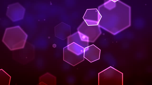 Hexagon Purple Background Loopable