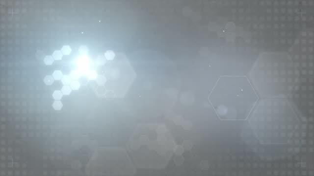 Sechseckige gestalteten Hintergrund Loop-Blau/Grau (FULL HD)