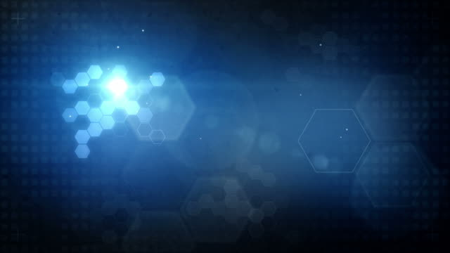 Hexagonal Designed Background Loop - Glowing Blue (Full HD)