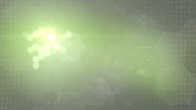 Hexagonal Designed Background Loop - Green/Grey (FULL HD)