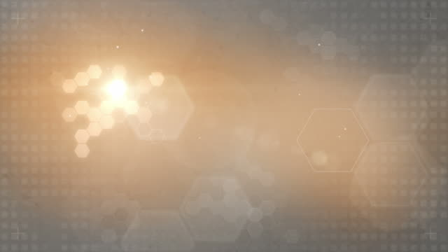 Hexagonal Designed Background Loop - Orange/Grey (FULL HD)