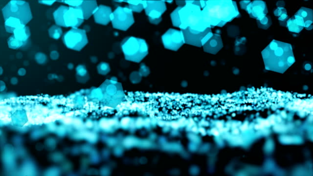 Hexagonal Particle Abstract Background