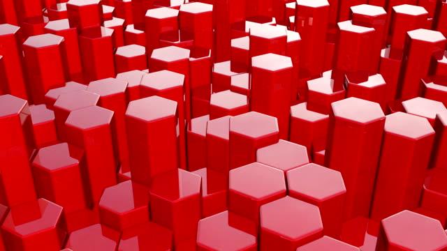 Hexagonal red background, full HD