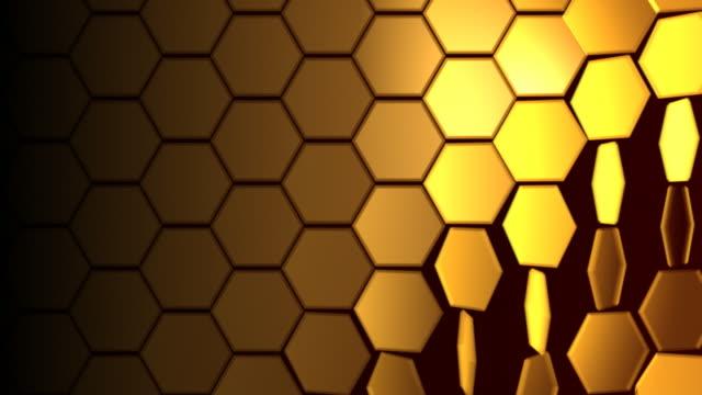 Hexagons 01 Gold Loop Background