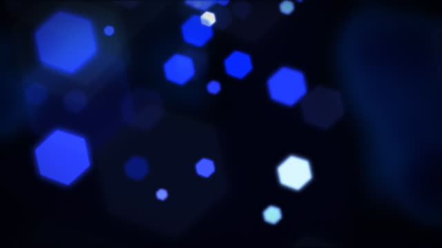 Hexagons background lights loopable